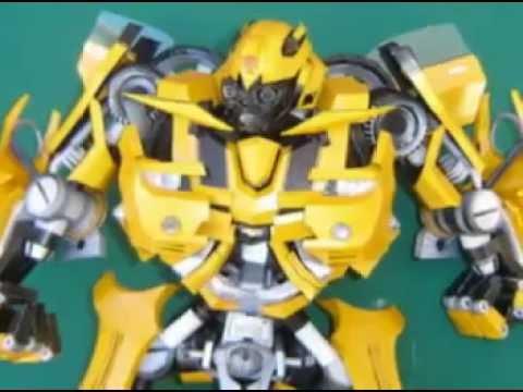 Papercraft Transformers Bumblebee paper model