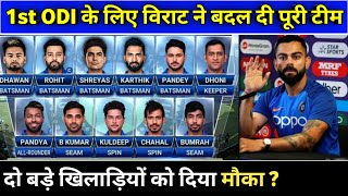 India vs West Indies 1st ODI 2019 | India Playing xi | ind vs wi 1st odi 2019