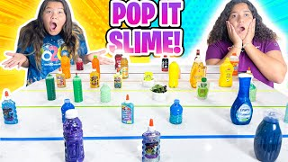 OUR POP IT CHOOSES OUR SLIME INGREDIENTS!!