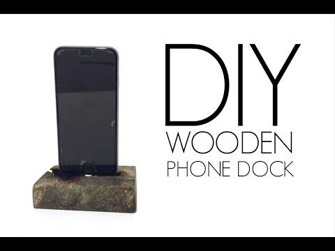 DIY Wooden iPhone charging Dock