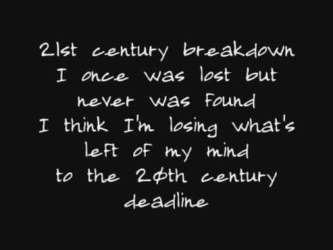 Song of the Century21st Century Breakdown lyrics