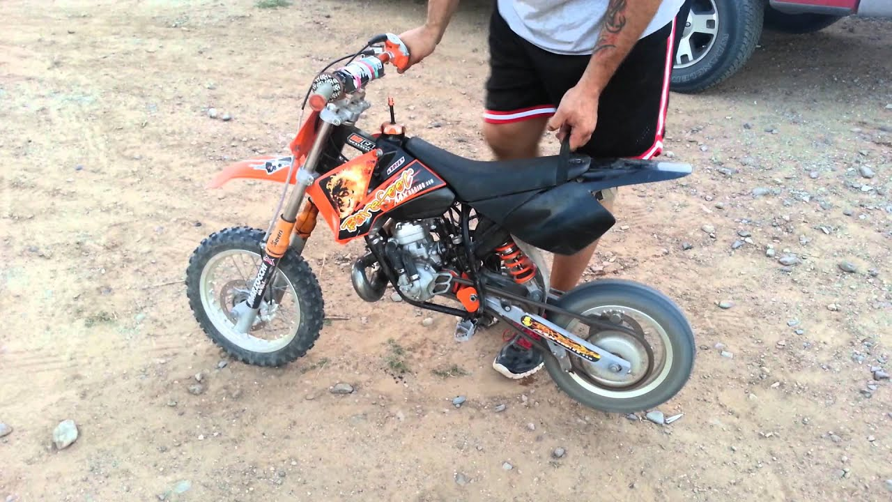 2008 ktm 50 sx sr. problems - youtube