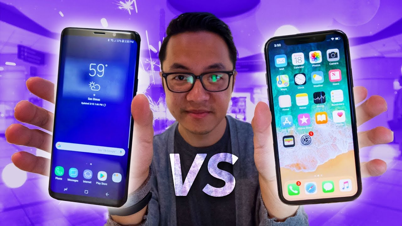 samsung vs iphone samsung galaxy s9 vs iphone x 1823