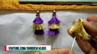 3 Layer Saree Kuchu Design step by step I Unique and New saree kuchu making video I Ladies Club