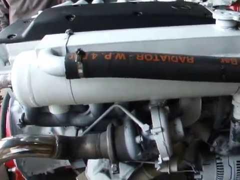 MERCEDES OM606 250hp TURBO INTERCOOLED MARINE DIESEL ENGINE VOLVO 290 DUO PROP STERNDRIVE