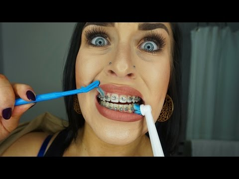 CLEANING MY BRACES!! - NIGHT ROUTINE | CHELS NICHOLE