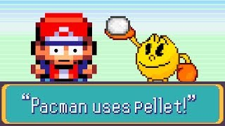 Pacman Vs Red in a Pokemon Battle