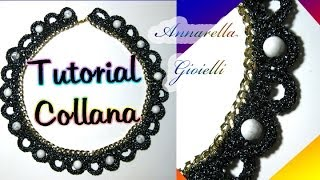 Tutorial collana uncinetto con catena | How to crochet a necklace