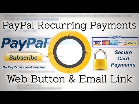 PayPal Secure Recurring Debit Card Payments Set Up