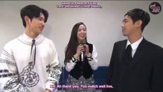[ENG SUB] 170214 Inkigayo - MC Behind + Interview (Jisoo, Jinyoung, Kwanghee)