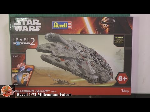 Revell 1/72nd Millennium Falcon Review And Build Video