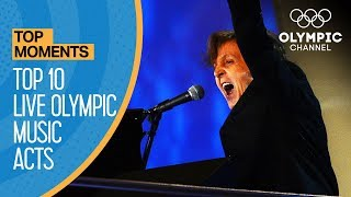 Top 10 Olympic Live Music Performances of All Time | Top Moments