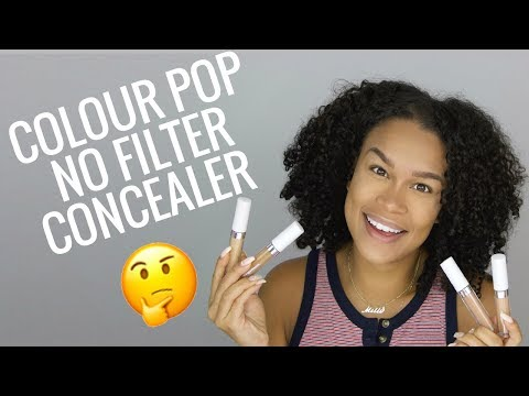 NEW COLOURPOP NO FILTER CONCEALER | FIRST IMPRESSIONS & REVIEW !