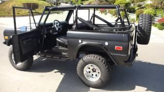 Rocky Roads 73 Matte Black Fuel Injected Custom Vintage Classic Bronco