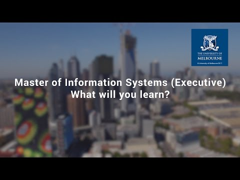 What will you learn in the Master of Information Systems (Executive)?