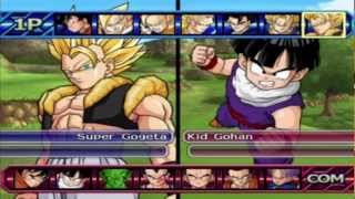 Dragon ball z budokai tenkaichi 3 all characters and transformations