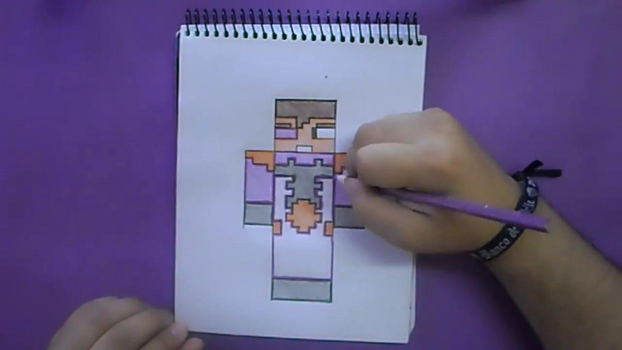 Dibujando Skin Vegetta Minecraft YouTube - Skin para minecraft pe vegetta777