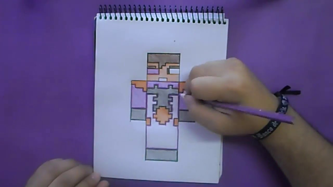 Dibujos Para Colorear Vegetta 777: Dibujando Skin Vegetta777 / Minecraft