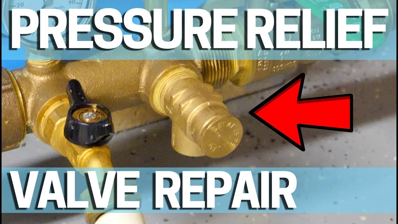 How to replace a pressure relief valve on a well that's not working on  leaking