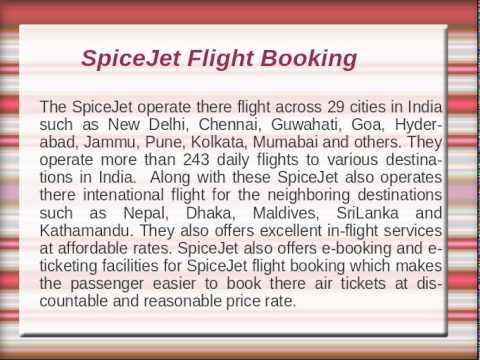 Book Online Spicejet Flight Tickets - YT