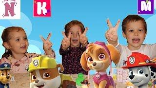 Мисс Кети Мистер Макс и Настя Распаковка игрушек Щенячий Патруль PAW PATROL  Miss Katy  Mister Max