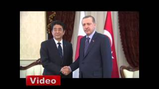 Japon Başbakanı'nı Erdoğan karşıladı