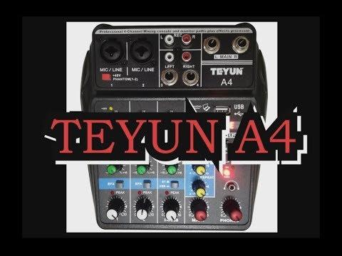 TEYUN A4 - подключение, настройки, тест на качество звука.