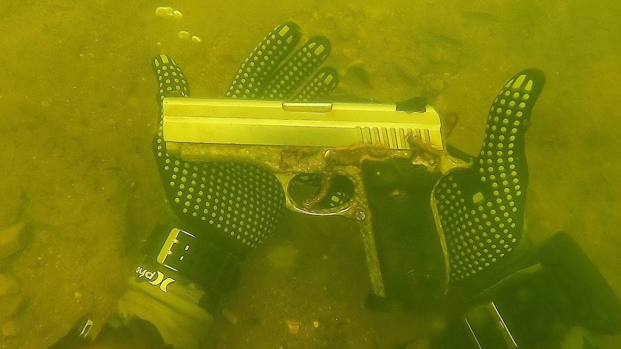 Download Found Possible Murder Weapon Underwater While Scuba Diving! .45 Caliber Pistol  (Police Called)
