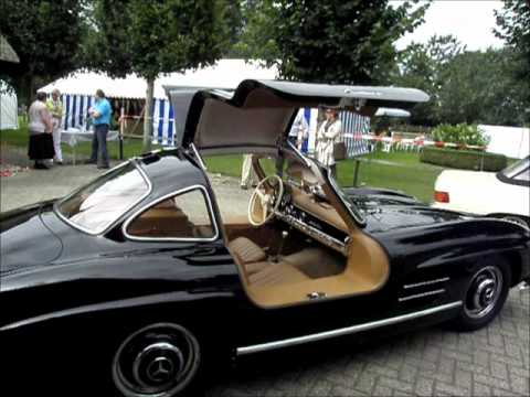 Most iconic sportscar ever: perfect black 1955 Mercedes Benz  300SL Gullwing
