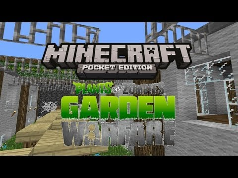 Plants Vs. Zombies Garden Warfare In Minecraft Pocket Edition!