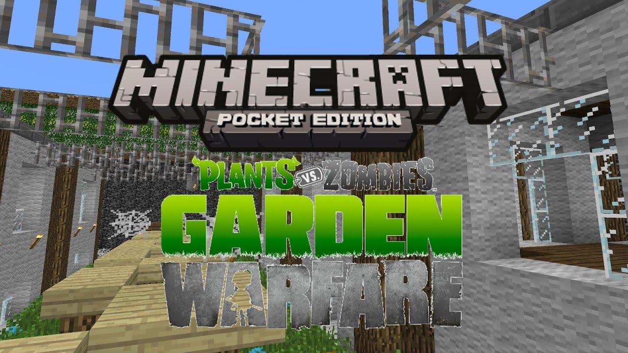 Plants Vs Zombies Garden Warfare In Minecraft Pocket