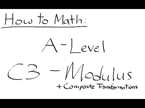 How to Math: ALevel  C3 – Modulus AQA