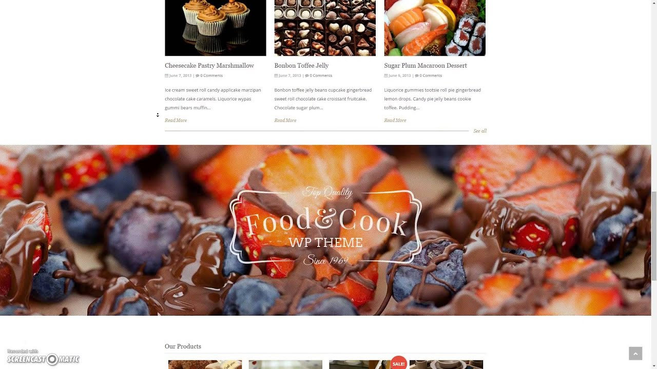 Food Recipes WordPress Theme V