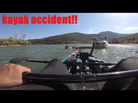 KAYAK FISHING ACCIDENT !! Pineview Utah Fishing For Bass
