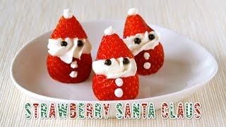 Strawberry Santa Claus for Christmas イチゴのサンタの作り方 - OCHIKERON - CREATE EAT HAPPY