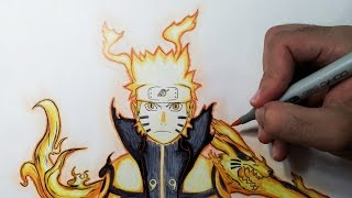 Drawing Naruto Bijuu mode