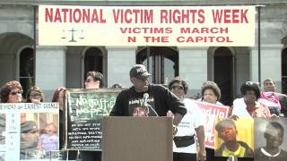 Cephus Uncle Bobby Johnson speaking at 2014 Crime Victim Month(4:10) California State Capital