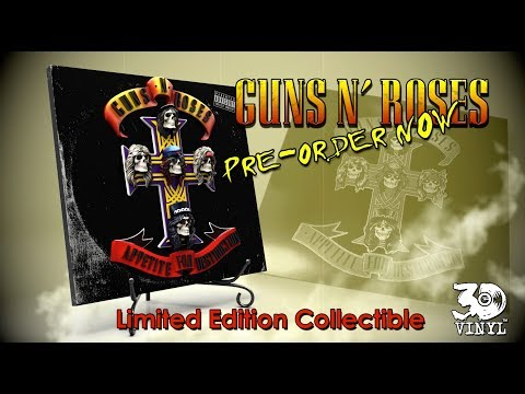 GUNS N/' ROSES APPETITE FOR DESTRUCTION 3D Vinyl Collector Series KNUCKLEBONZ