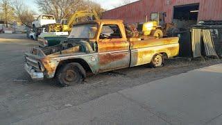 1964 Chevy C10 junk yard Find