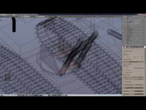 How to Model a Hydraulic Excavator in Blender - Part 3 : Rams and Tracks - v 2.72 / 2.73 beta