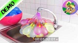 Qual dos balões é mais rápido ao encher? Comparação de bombas de água