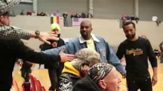 Kanye West watches Hubo Limburg United vs JBA USA