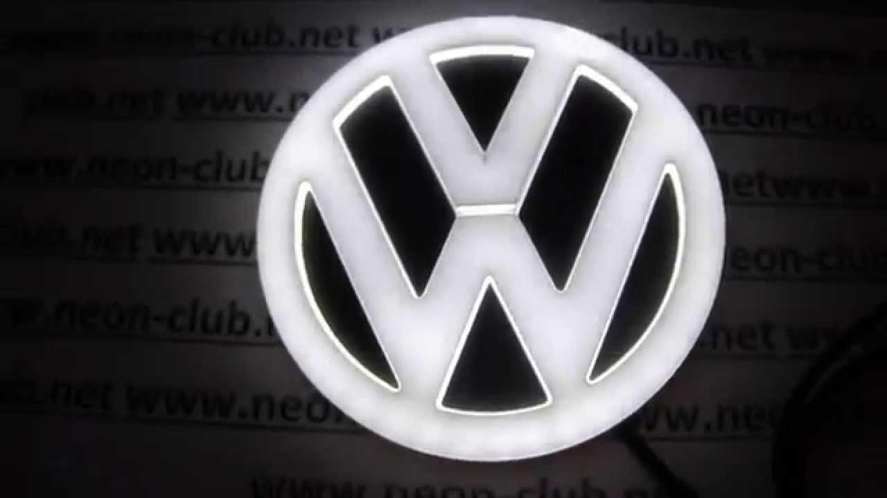VW badges light emblem scirocco, golf 6, vw bora, CC ...