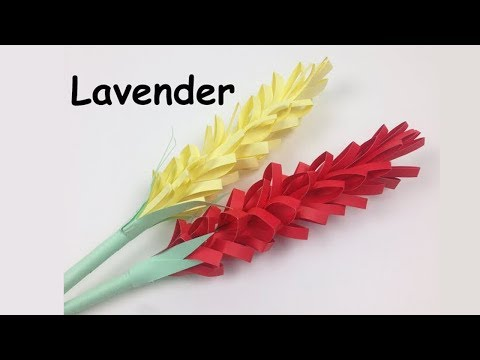 How to Make Easy Origami Lavender Paper Flower   DIY Simple Flowers Tutorial for Beginners Making