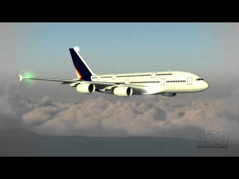 A380 in-flight 3D animation