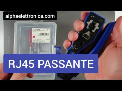 Come Crimpare Un Connettore RJ45 In Tecnologia Passante Con 98-168K