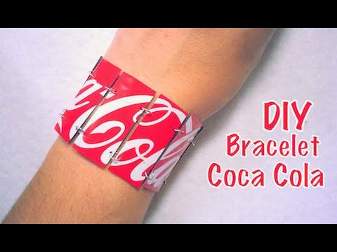 diy recyclage bracelet avec canette de coca youtube. Black Bedroom Furniture Sets. Home Design Ideas