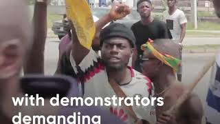 Violence and looting as unrest grips Nigeria