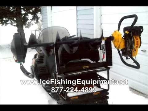 Diy atv ice auger carrier doovi for Humminbird ice fishing conversion kit