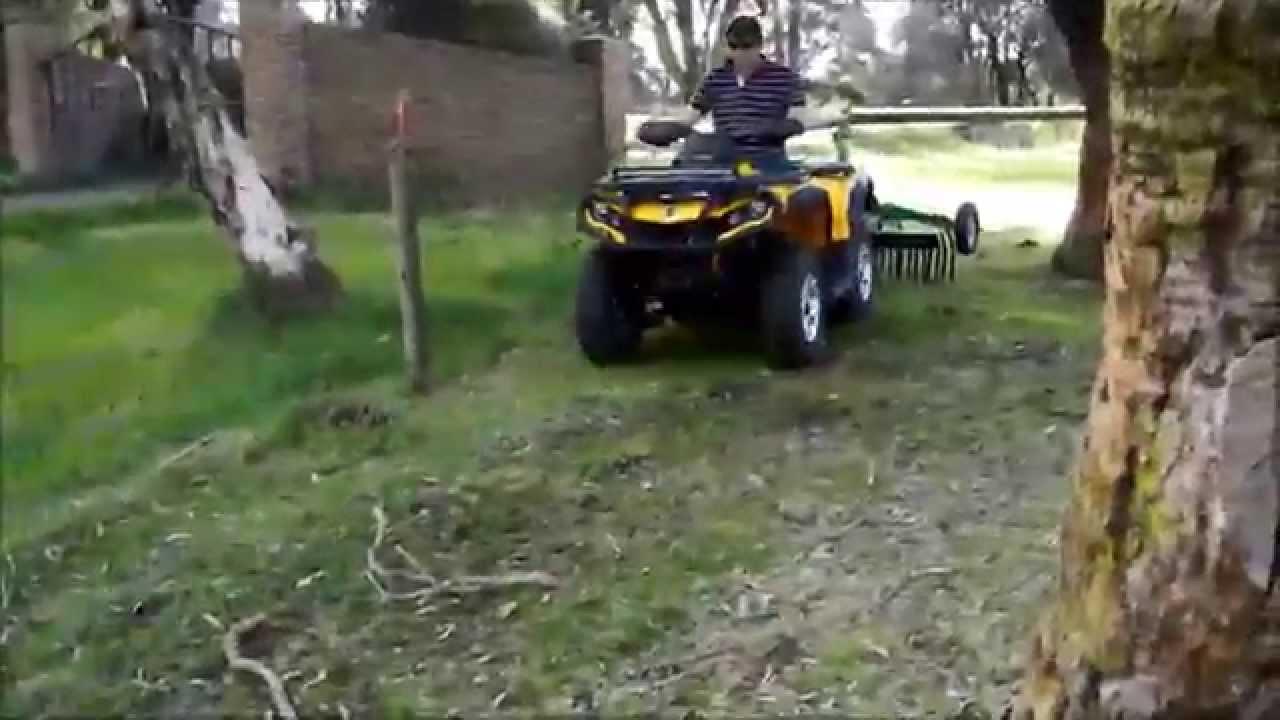 HAYES ATV RAKE DEMO